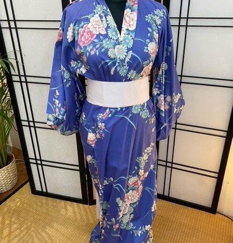 yukata pivoine bleu