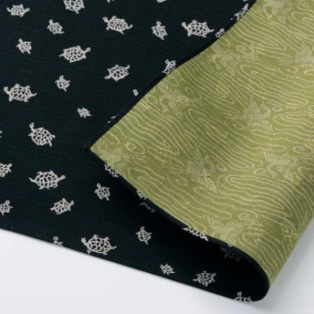 tissu furoshiki motif tortue grue