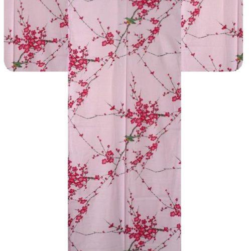 yukata rose femme cerisier
