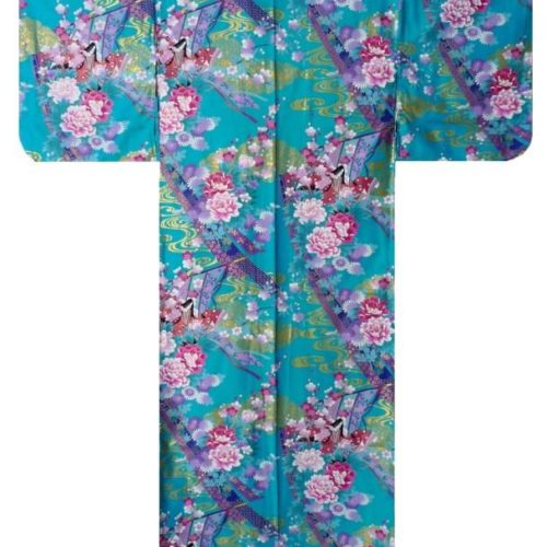 yukata princesse turquoise