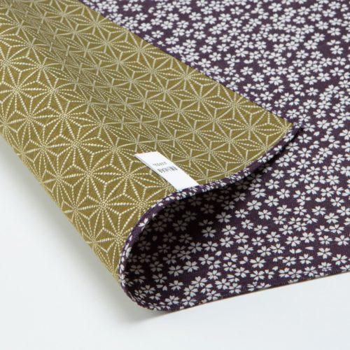 furoshiki asanoha sakura vert violet