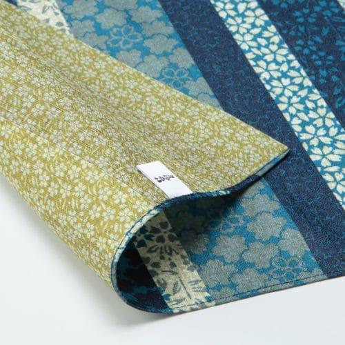 furoshiki reversible sakura bleu et vert