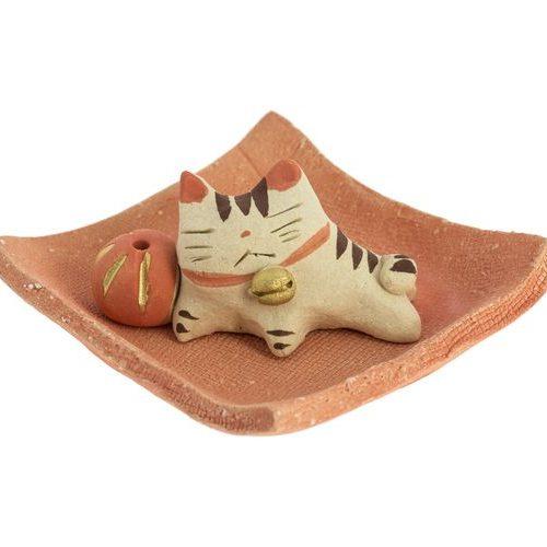 Porte encens chat et boule